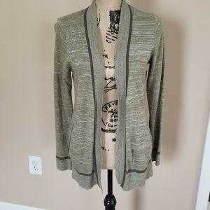 Heathered knit cardigan